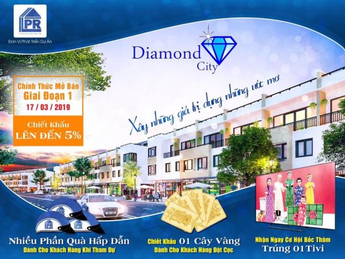 Bán đất nền dự án Diamond City Củ Chi, diện tích 80m2, sổ hồng riêng, liên hệ 0983047976