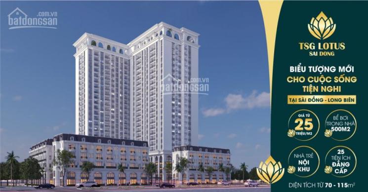 Mở bán chung cư cao cấp Sài Đồng, liền kề Vinhomes Riverside, giá 25tr/m2, DT 70m2 - 115m2