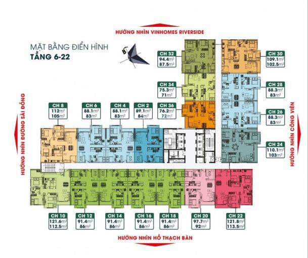 Bán căn hộ cao cấp DT 86m2 thiết kế 2 PN, 1 đa năng full nội thất cao cấp, giá 2.1 tỷ LH 0966391207