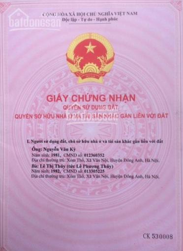 Bán 100m2 đất thổ cư đẹp nhất khu vực trục chính xóm Thố, xã Vân Nội. Cách đường Vân Nội 30m