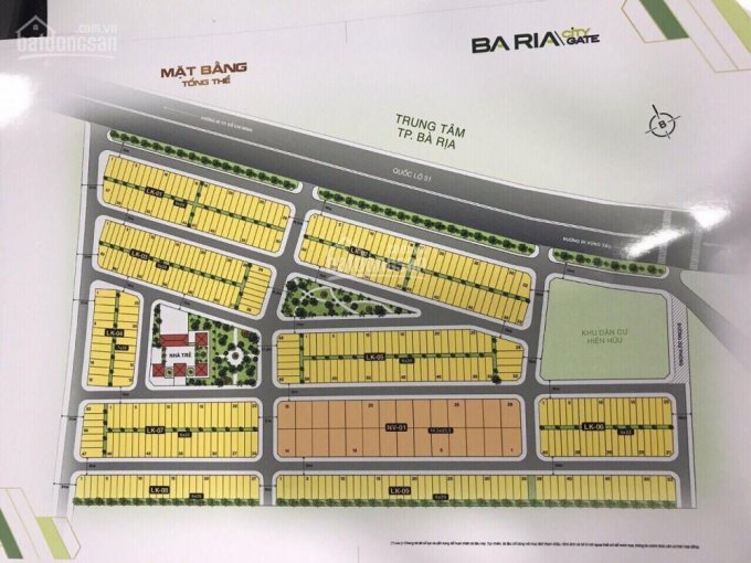 Chính chủ lướt 3 nền Baria City Gate vị trí đẹp, nay để lại giá tốt cho khách đầu tư. 0938343079