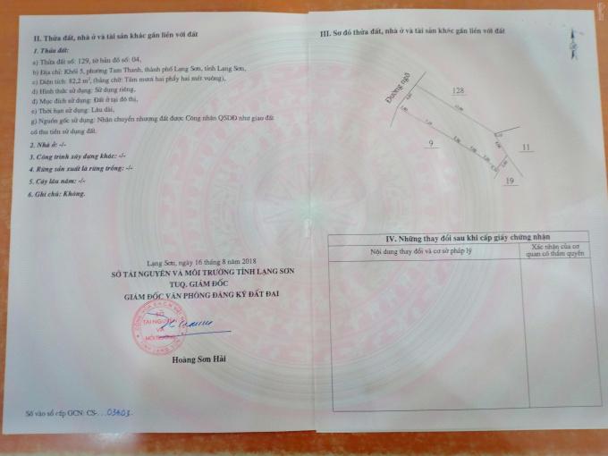 Bán đất ngõ 447 Trần Đăng Ninh, 82m2, LH: 0916949288