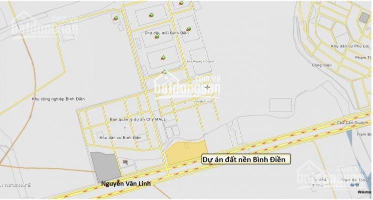 Mở bán đất dự án KDC Bình Điền, Nguyễn Văn Linh, Q. 8, giá TT 1 tỷ, DT đa dạng. 0932.124.234 Long
