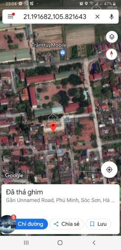 Bán đất thổ cư tại thôn Đông, Phú Minh, Sóc Sơn, Hà Nội gần sân bay Nội Bài