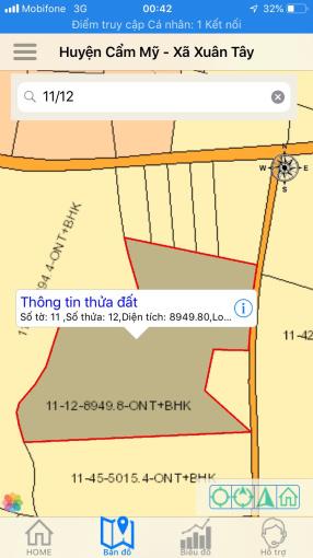 Cần bán gấp 9 sào đất vườn cây ăn trái tại Ấp 5, xã Xuân Tây, H. Cẩm Mỹ, T. Đồng Nai