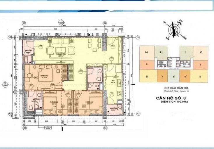 Bán gấp căn góc 2408 đẹp nhất tòa CT1