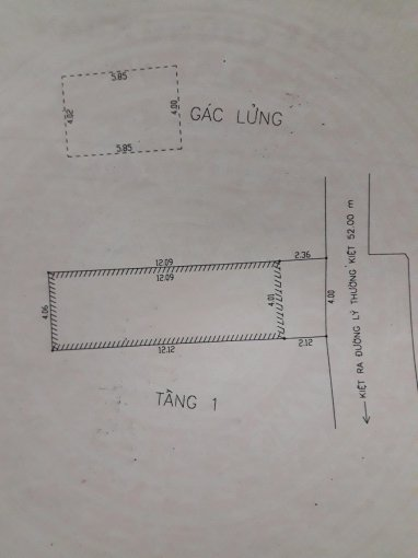 Bán nhà K18 Lý Thường Kiệt, nhà cấp 4, 2PN, 1WC Hải Châu, Đà Nẵng