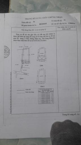 Nhà bán 103/ Tân Hóa, P14, Q6, ngang 5x11m, DTXD 48.3m2, DT sàn 125,6m2, trệt, lửng, 1 lầu