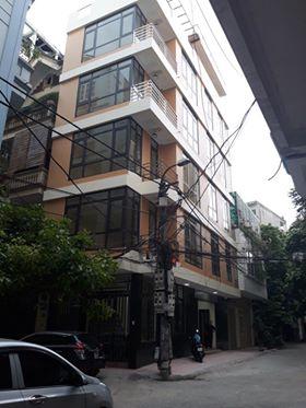 Cho thuê nhà riêng phố phạm Thận Duật, Mai Dich, Cầu Giấy. DT 80m2 x 6 tầng, lô góc, giá 30tr/th