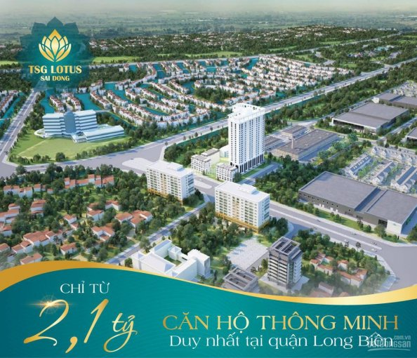 Chung cư chuẩn cao cấp, trang bị hệ thống smarthome đầu tiên tại Sài Đồng, chỉ từ 2,1 tỷ căn 3 PN