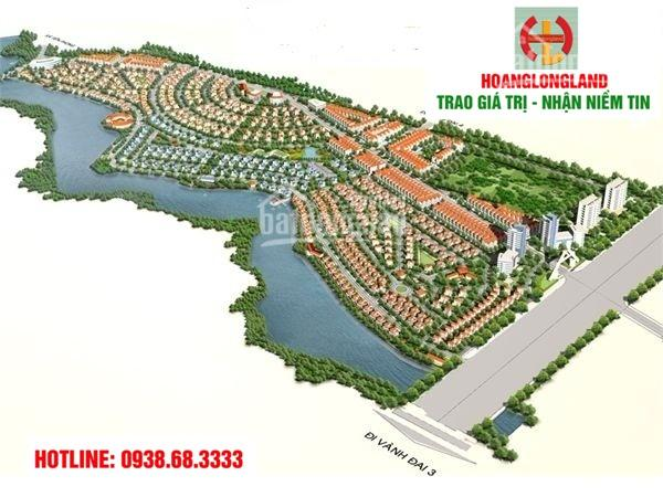 Bán đất biệt thự, DT 330m2, lô góc gần đường 24, view công viên, giá 11tr/m2, LH 0938.68.3333