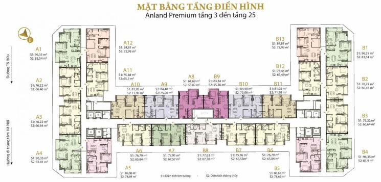 Tôi cần bán gấp căn 18A4 84m2 căn góc 3 phòng ngủ, ban công ĐB - ĐN dự án Anland 2. LH: 0978769682