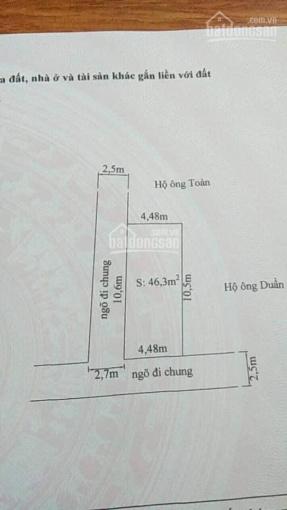 Bán đất ngõ 369 Lũng Đông, Đằng Hải, Hải An, Hải Phòng