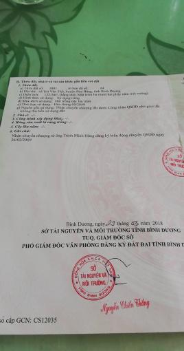 Bán đất chính chủ Trừ Văn Thố - Bàu Bàng, DT 132m2
