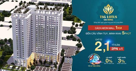 Ngày 15/06 Khai trương căn hộ mẫu TSG Sài Đồng, Ưu đãi tặng gói NT Smarthome, CK 3% GTCH, vay 0% LS