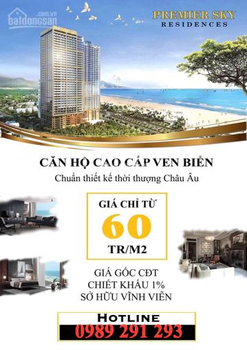 Mở bán GĐ1 tổ hợp căn hộ biển, mặt tiền Võ Nguyên Giáp, Đà Nẵng, sổ hồng vĩnh viễn, LH: 0989291293