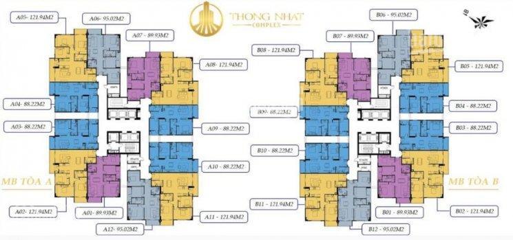 Tôi Thìn cần bán gấp CH 1503(DT 88.9m2) tòa A Thống Nhất Complex, giá 28 tr/m2 (BT). LH: 0961958301