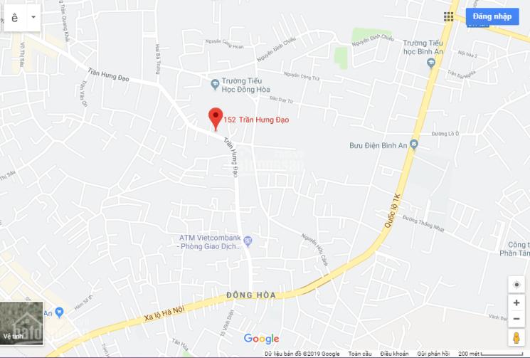 Cho thuê nhà mặt tiền 300m2 (5x60m), tại đường Trần Hưng Đạo, Dĩ An, Bình Dương