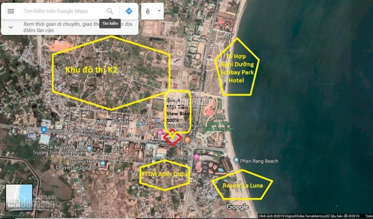 Bán đất góc vị trí cực đẹp cách biển đúng 200m đi bộ biển Bình Sơn Phan Rang - Ninh Thuận ảnh 0
