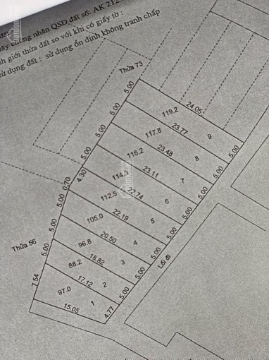 Bán đất khu phân lô đường Lưu Chí Hiếu giá 2.25 tỷ/1 lô, 116m2