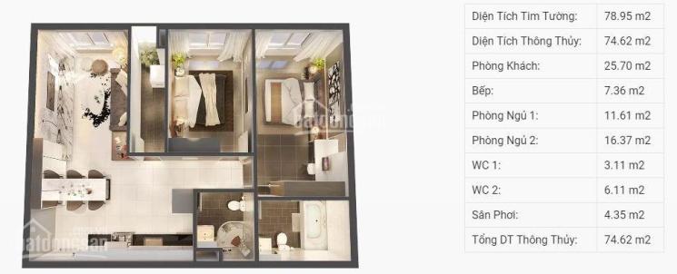Bán gấp căn hộ Topaz Elite, 78,88m2, thanh toán 1.514 tỷ, cuối năm nhận nhà. 0933555148