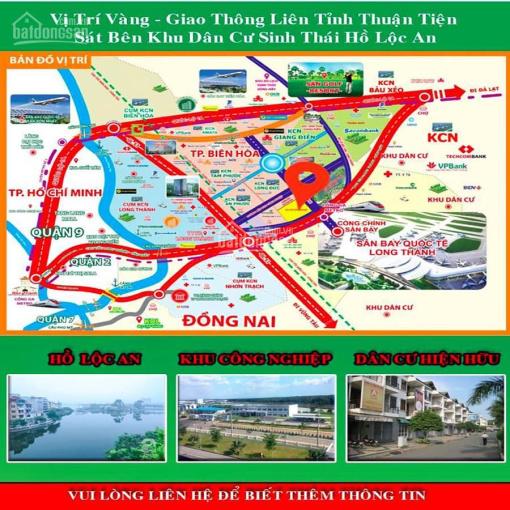 Chỉ 360tr sở hữu ngay lô đất MT - QL 51 gần TT hành chính Long Thành, SHR, thổ cư 100%