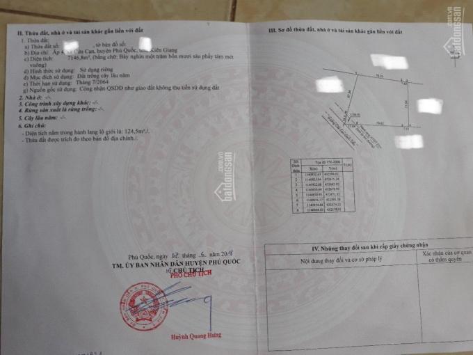 Dì Năm cần bán lô đất sạch xã Cửa Cạn, Phú Quốc, 7 tỷ/công
