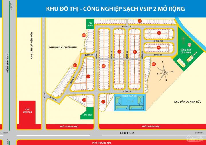 Khu đô thị Vĩnh Tân liền kề Vsip 2 mở rộng vẫn còn giá gốc. LH 0939 003 093
