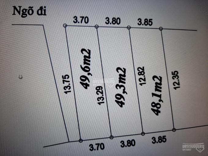 Bán đất Miêu Nha DT 48m2 x 3.7m MT, ngõ 5m thông kinh doanh ô tô đỗ cửa, tiện lợi, 0963878477