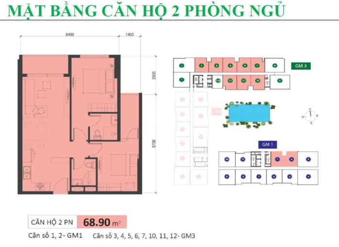 Bán gấp căn 2PN, 69m2, Golden Mansion, view công viên, giá 3.22 tỷ, bao gồm 100% giá trị căn hộ