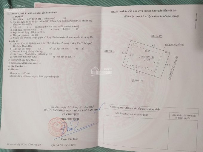 Bán biệt thự Khu đô thị sinh thái FLC Sầm Sơn