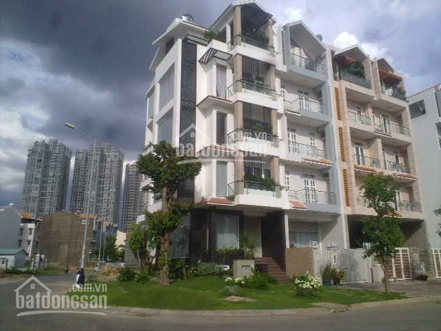 Cho thuê tòa nhà căn góc 2 MT đường 35m Him Lam Tân Hưng Q7, 1 hầm 5 lầu giá 108tr. LH 0907008897