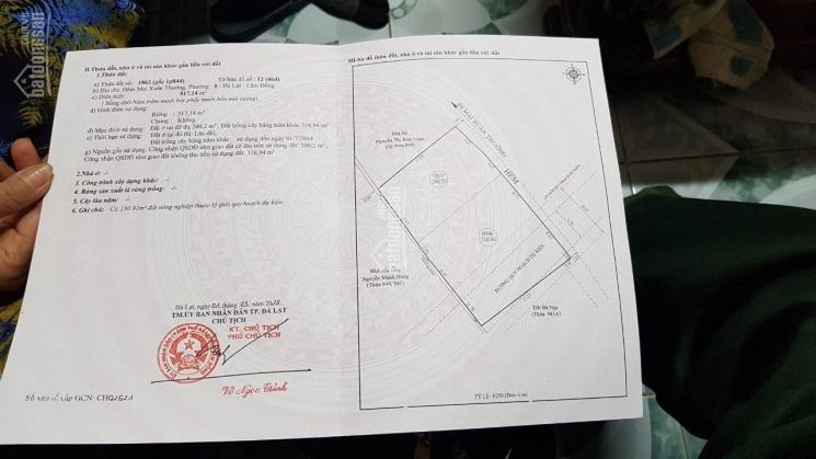 Tôi cần bán gấp 500m2 đất tại Phường 8, TP Đà Lạt có 200m2 thổ cư ĐT 0934478168
