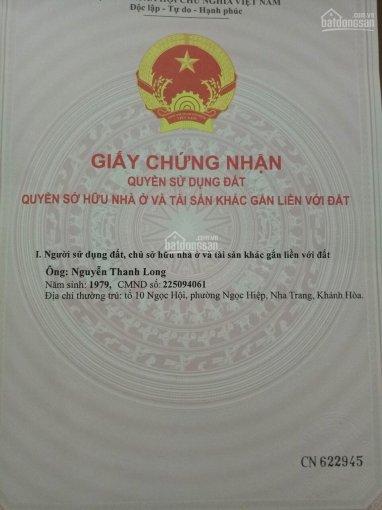 Chính chủ cần bán đất thổ cư xã Vĩnh Ngọc, Nha Trang, giá cực tốt. LH 0909505578