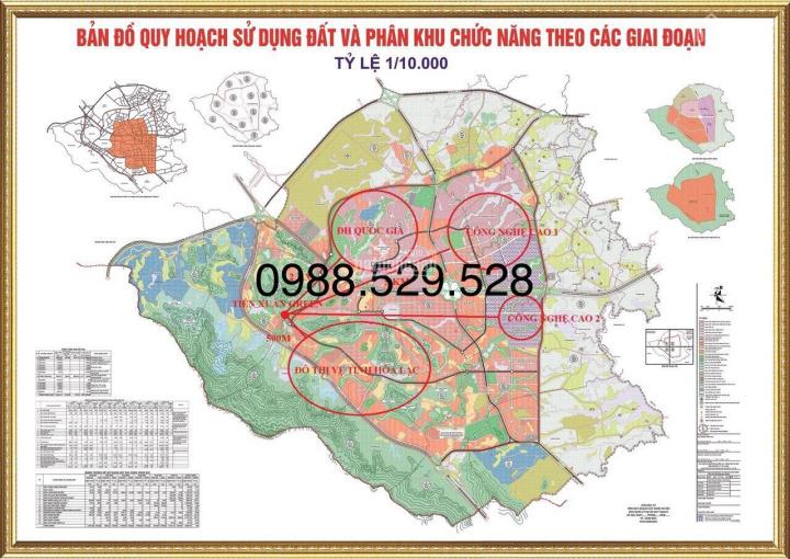 Chuyên bán đất Hòa Lạc, khu nghỉ dưỡng, trang trại, kho nhà xưởng DT 500m, 1000m2,2ha, 20ha