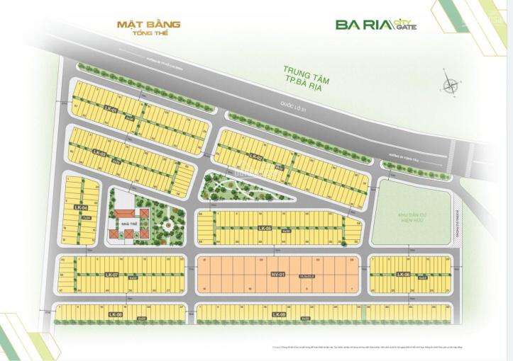 Đất nền dự án Bà Rịa City Gate, giá chỉ 13tr/m2