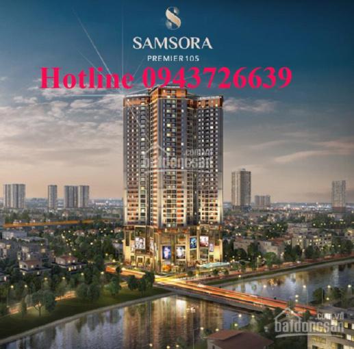 Cho thuê mặt bằng thương mại tầng 1 tại tòa nhà Samsora Premier, Chu Văn An, Hà Đông, lh 0943726639