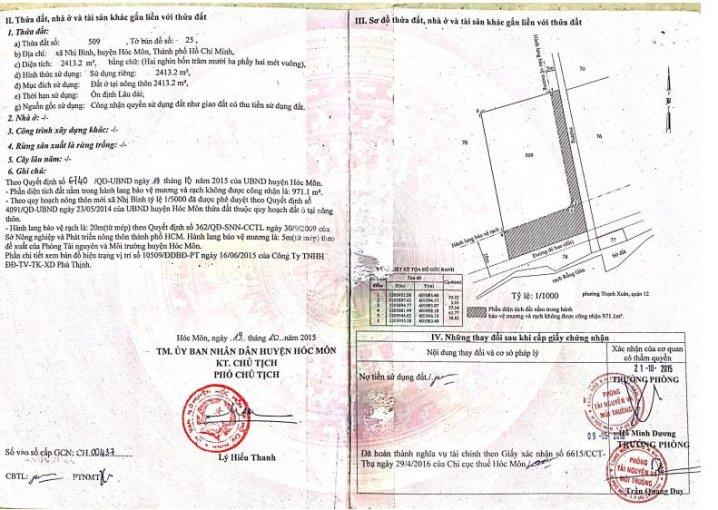 Cần cho thuê gấp đất Hóc Môn, Nhị Bình 15 - Giáp ranh Q12 - TT sầm uất. LH chính chủ 0908014957