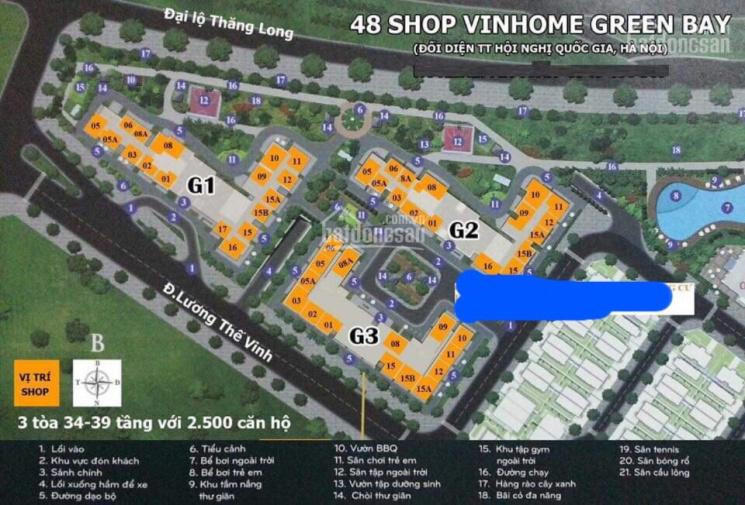 Tổng hợp các căn shop chân đế cần cho thuê của Vinhomes Green Bay mới nhất. LH 0917462689