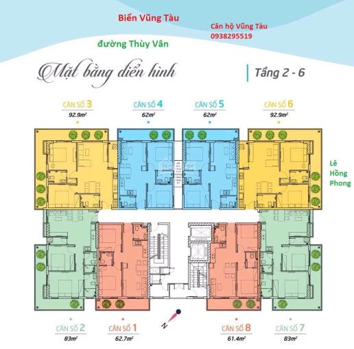 Căn hộ Vũng Tàu ngay biển Lê Hồng Phong, còn căn CĐT giá tốt 63m2 từ 1.9 tỷ. Tiện ích đủ 0938295519