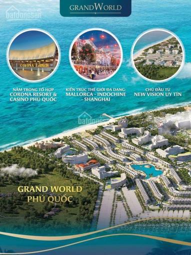 Tiềm năng sinh lời vô hạn từ shop Grand World Phú Quốc, kế cận Casino Quốc tế, Vinpearl
