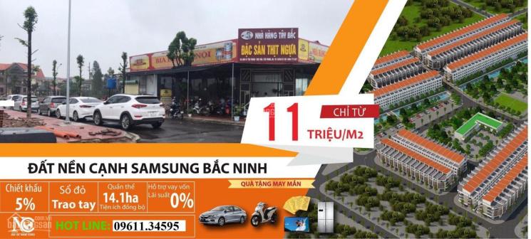 Chính thức mở bán 100 lô đất ngoại giao gần Samsung Bắc Ninh giá chỉ từ 9,5tr/m2, LH 0961134595