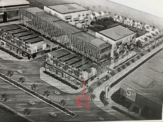 Lô góc đường A4 và B1 KDC Hưng Phú 1, DT: 24m x 26m, giá: 45 triệu/m2