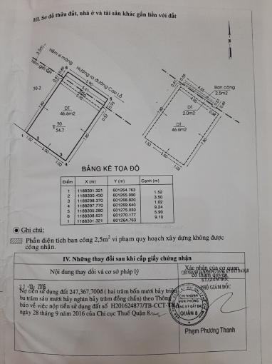 Bán gấp nhà hẻm Cao Lỗ, Phường 4, Quận 8, 1 trệt 1 lầu