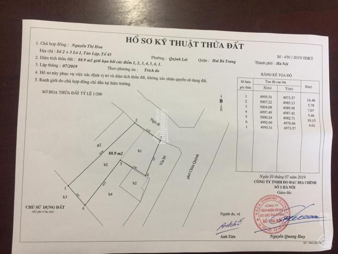 Bán nhà mặt phố Chùa Quỳnh, phường Quỳnh Lôi, quận Hai Bà Trưng, Hà Nội, lô góc