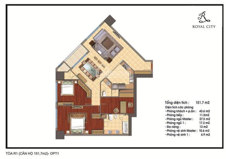 Cần bán gấp căn 151m2 tòa R2 Royal City, giá siêu rẻ, siêu hấp dẫn LH: 0989163656