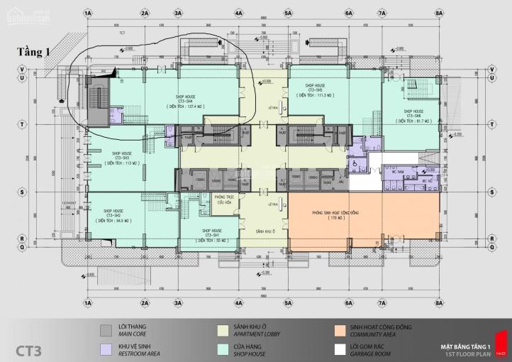 Bán shophouse sàn thương mại trung tâm Mỹ Đình, tầng 1 + 2, DT: 295m2, lô góc ngã 3. LH 0901.596288