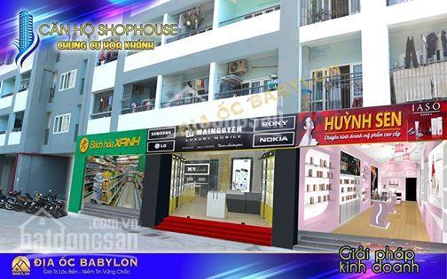 Căn hộ tầng trệt, shophouse khu chung cư Hoà Khánh