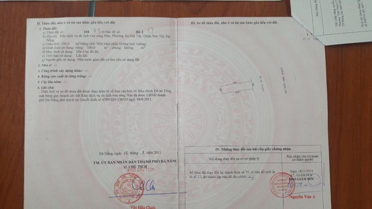 Bán lô đôi đất xây cao tầng khu euro village đà nẵng vị trí có 1 không hai tại Đà Nẵng (chính chủ )