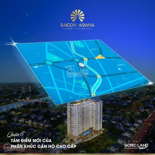 Shophouse căn hộ Saigon Asiana Nguyễn Văn Luông, Quận 6 giá chỉ từ 3.9 tỷ/căn thanh toán 2 năm
